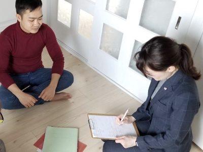 技能実習生と個別面談(カウンセリング)の実施